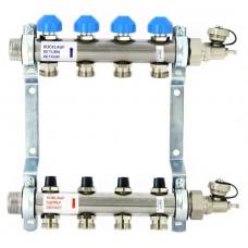 Коллекторная группа Uni-Fitt с регулировочными вентилями на 4 выхода