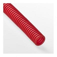 Гофра для трубы 20 мм красная (30 метров)
