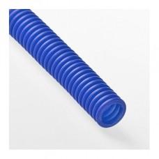 Гофра для трубы 20 мм синяя (30 метров)
