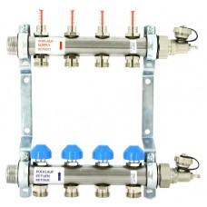 Коллекторная группа Uni-Fitt с расходомерами на 5 выходов